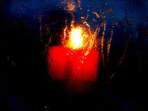 Bougie par nuit Image stock