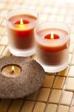 Bougie parfumée Images stock