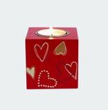 Bougie romantique Images stock