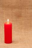 Bougie rouge Images libres de droits