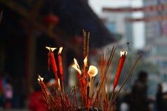 Bougie rouge Photos libres de droits