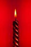Bougie rouge Photo libre de droits