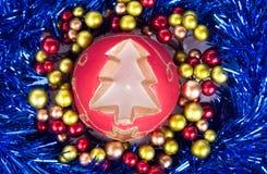 Bougie rouge de Noël Image libre de droits