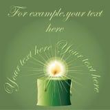 Bougie verte de Noël illustration de vecteur
