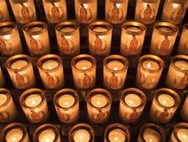 Bougies au Notre Dame de Paris image stock