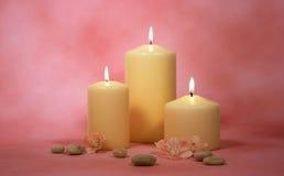 Bougies avec Deco Photo stock