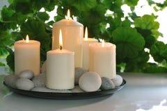 Bougies blanches Photo libre de droits