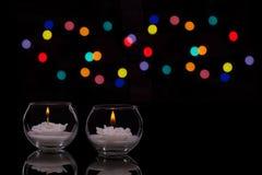 Bougies blanches Photos libres de droits