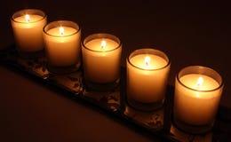 Bougies brûlantes Photographie stock libre de droits