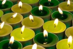 Bougies brûlantes Photos stock