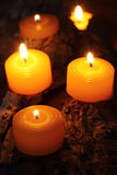 Bougies brûlantes Photo stock