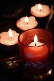 Bougies brûlantes Photographie stock