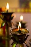 Bougies brûlantes d'huile Image stock