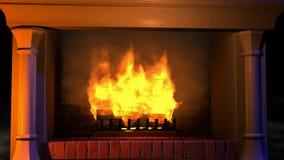 Bougies brûlantes sur le fond du ciel étoilé banque de vidéos