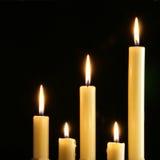 bougies cinq image libre de droits