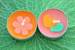 Bougies colorées. Image stock