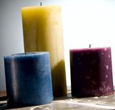 Bougies colorées Images libres de droits