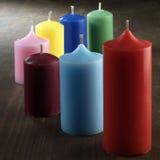 Bougies colorées Photos libres de droits