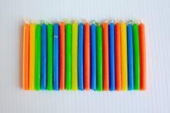 Bougies colorées Photo stock