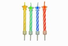 Bougies colorées d'anniversaire Photos stock