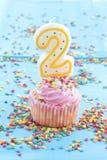 Bougies colorées d'anniversaire Photo libre de droits