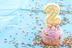 Bougies colorées d'anniversaire Photos libres de droits