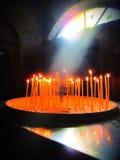 Bougies d'église Photographie stock