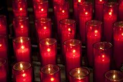 Bougies d'église Photos libres de droits