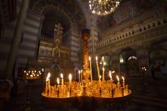 Bougies d'église d'international photos libres de droits