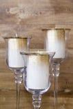 Bougies d'or Photographie stock libre de droits