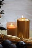 Bougies d'or Image libre de droits