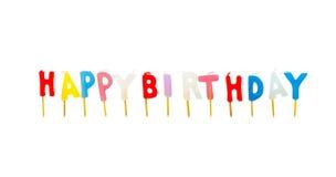 Bougies d'anniversaire Photographie stock