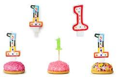 Bougies d'anniversaire Image stock