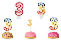 Bougies d'anniversaire Photographie stock libre de droits