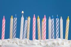 Bougies d'anniversaire Image libre de droits