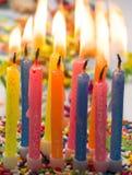 Bougies d'anniversaire Photo libre de droits