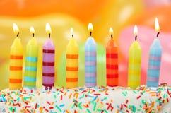 Bougies d'anniversaire Photos stock