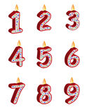 Bougies d'anniversaire de numéro Photographie stock