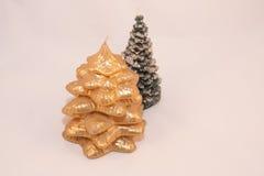 Bougies d'arbre de Noël images stock