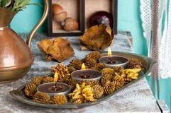 Bougies d'arome de Brown Image stock