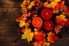 Bougies d'automne Photographie stock