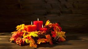 Bougies d'automne Image libre de droits