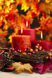 Bougies d'automne Photo stock