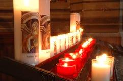 Bougies d'église Photographie stock libre de droits