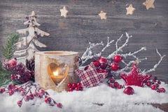 Bougies d'hiver Photos libres de droits