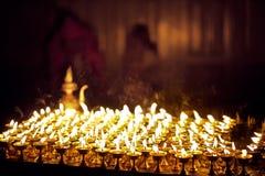 Bougies dans l'église Photos libres de droits