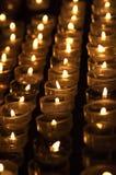 Bougies dans l'église Images libres de droits