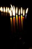 Bougies dans l'obscurité Photos libres de droits