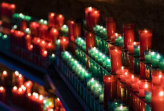 Bougies dans l'ombre Image libre de droits