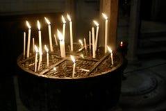 Bougies dans la bouilloire, Jérusalem Photo libre de droits